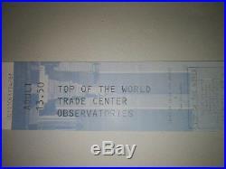 World Trade Center (Torres Gemelas)Tickets Pre 11s 1 day before ticket 09/10/01