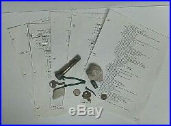 World Trade Center WTC 9/11 Recovered Concrete Keys Coins Nails Screws Tile Wire