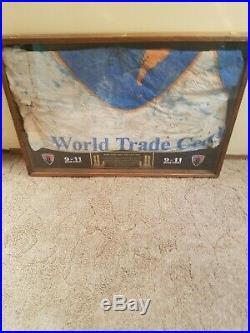 World trade center association flag, September 11,2001
