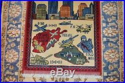 Wtc 9/11 rug world trade center afghan drone war rug size 80 cm x 58 cm