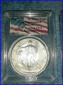 Wtc ground zero recovery PCGS 2001 gem uncirculated 1 of 1440 American silver
